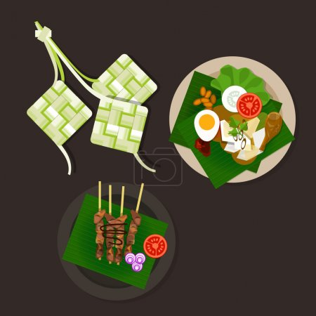Lebaran ketupat idul fitri ied food sate opor ayam...