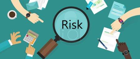 Illustration pour Risque management actif vulnérabilité évaluation concept vecteur - image libre de droit