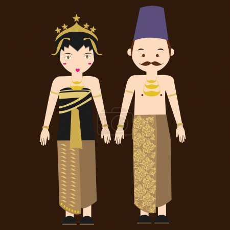 Central java javanese indonesian traditional cloth...