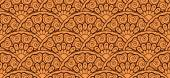 Seamless pattern with round floral elements