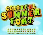 Colorful summer comic font Comics pop art