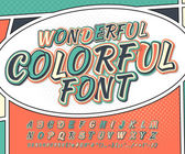 Wonderful multicolored high detail comic font and comic book page Alphabet in style of comics pop art Multilayer letters and figures for illustrations websites posters comics banners