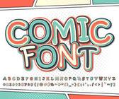 Cool multicolored comic font comics book page