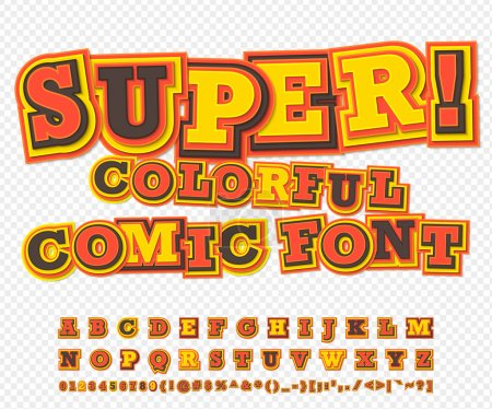 Yellowred comic font