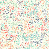 Vector seamless floral pattern Hand draw doodles