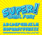 Creative comic font Vector alphabet in style pop art
