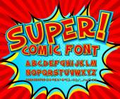 Creative comic font Vector alphabet in style pop art