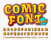 Creative high detail comic font Alphabet comics pop art