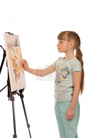 A painting young girl.