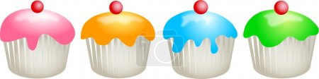 Cupcakes on white background