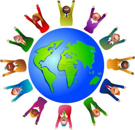 Business world around the globe