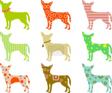 Illustration for Patterned Chihuahuas background - Royalty Free Image