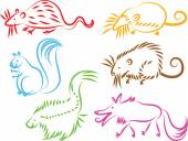 Animal icons illustration