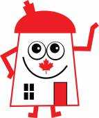 Canadian house cartoon on white background vector