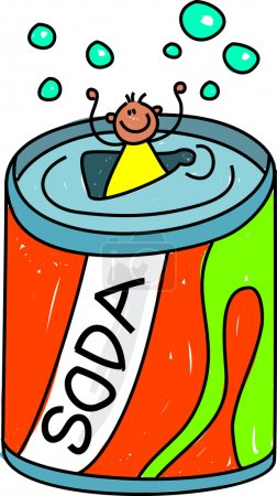 Illustration pour Illustration vectorielle du garçon soda sur fond blanc - image libre de droit