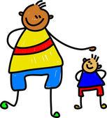 Big kid little kid cartoon