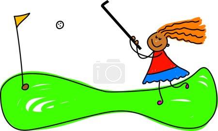 Little Female Golfer
