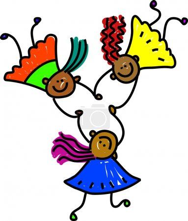 United kids girl - mixed race