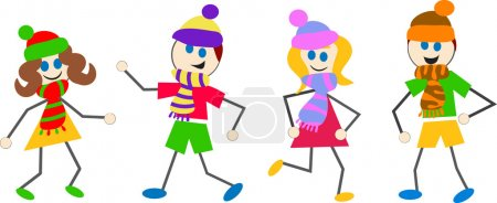 Winter kids cartoon