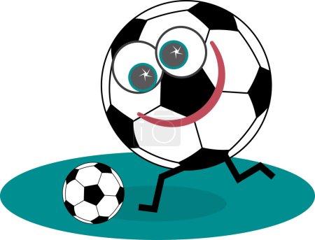 Happy Soccer Player  running