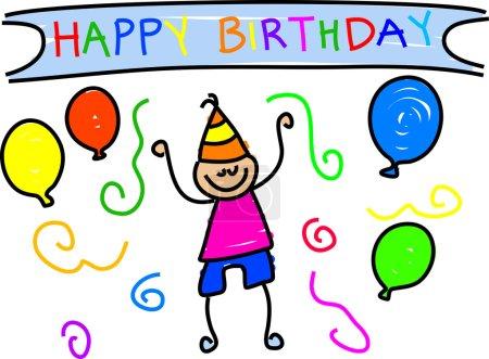 Photo pour Joyeux anniversaire. Illustration vectorielle - image libre de droit