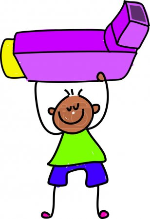 Inhaler kid cartoon