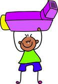 Inhaler kid cartoon