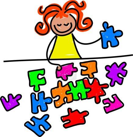 Jigsaw kid cartoon