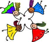 United kids - mixed race kids
