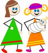 Mary and Joseph cartoon