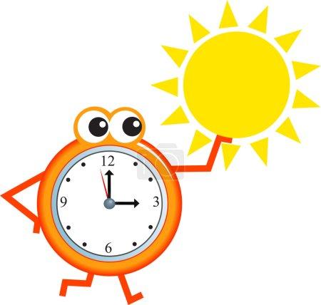 Clock with summer sun