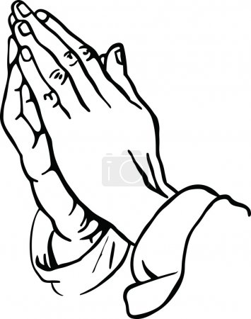 Human hands in prayer.
