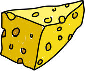 Slice of cheddar cheese