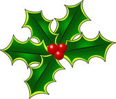 Pretty Christmas Holly Page Decoration