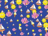 Seaside wallpaper desig
