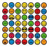 Set of smiling face emoticons