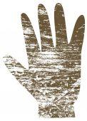 A human hand print