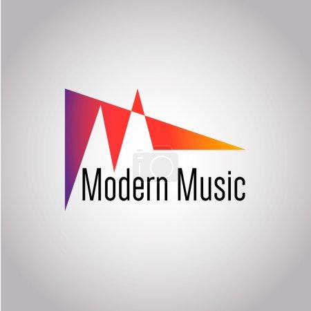Icône vectorielle de note de musique abstraite. Ce concept graphique représente également