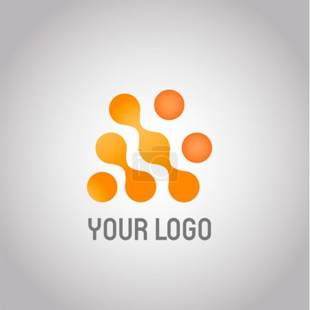 Illustration for Abstract Technology logo design template. Molecule, nanotechnology, dna theme. Creative concept icon. Corporate company identity. Vector EPS 10 - Royalty Free Image