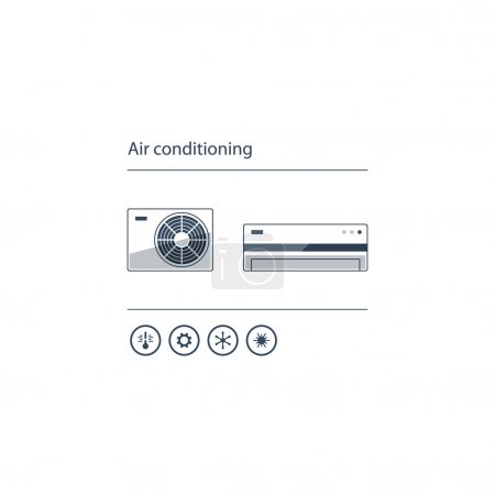 home air conditioning service icons