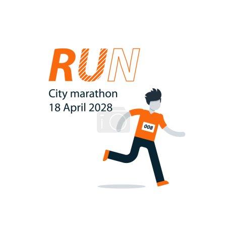 Running man and finish line