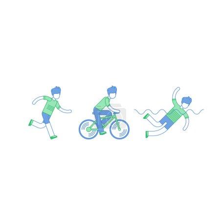 Triathlon sports activity