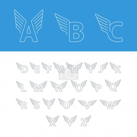 dynamic alphabet letters with wings