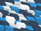 background with grey and blue cubes