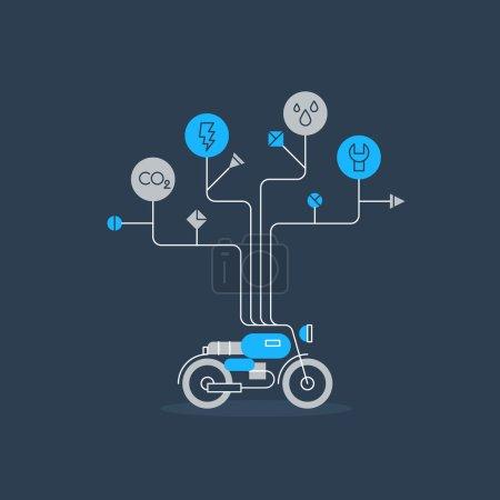 Motorbike services icon