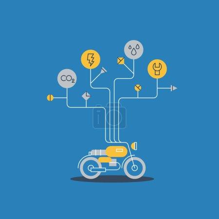 Illustration pour Icône services moto, illustration vectorielle - image libre de droit