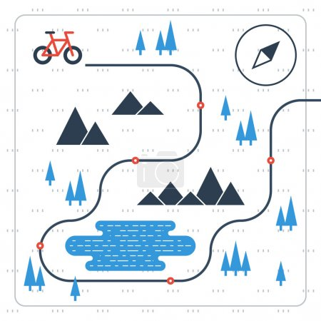 Cross country bicycle map...