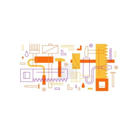 Illustration for Renovation service illustration - Royalty Free Image
