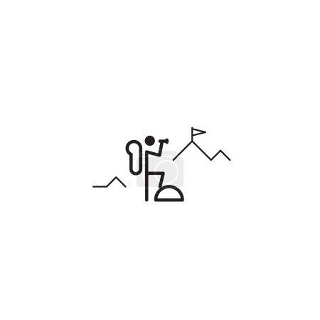 Mountain climber illustration