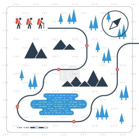 Sport orienteering in cross country